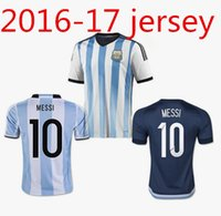 Wholesale Cheap Argentina Football Jerseys - Thai top quality Argentino jersey MARADONA AGUERO ROJO MASCHERANO man Argentina jerseys Cheap football Sports uniforms shirt