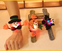 HOT Halloween LED Clap Ring Pumpkin Brinquedo Party Cosplay Bracelet Costume Prop Party supplies festival noturno espírito festival decorar A7587