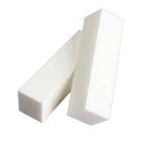 beyaz blok tamponları toptan satış-12 Adet Parlatıcı Zımpara Tırnak Tampon Blok Dosyaları Akrilik Pedikür Beyaz Tampon Blok Manikür Nail Art UV Jel için