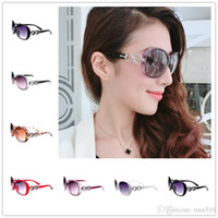 Wholesale Trend Model Sunglasses - New women Sunglass Free shipping fashion sunglasses trend sunglasses female models big frame sunglasses free shipping B0828