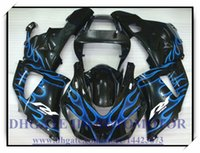 СИСТЕМА ВПРЫСКА BRAND NEW обтекателя KIT 100% FIT FOR YAMAHA YZFR1 1998 1999 YZF R1 98 99 YZF1000 YZF R1 1998-1999 годов # WX819 черный синий FLAME
