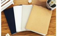 boş kroki kitabı toptan satış-Toptan-1 parça 40 sayfa 140 * 104mm cep boş iç dizüstü kroki kitap günlüğü el yazması kalın Not Defteri okul kırtasiye kaynağı
