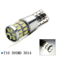 Wholesale High Lumen Smd Led - High lumen T10 Canbus 30 SMD 3014 led Lamp T10 W5W Car Light Bulb License Plate Light Tail Lights Canbus Error Free Replacement Light Bulb