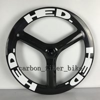 Wholesale 26 Bicycle Wheel Front - T700c road bicycle Rear wheel 65mm tri spokes wheelset 700C 3 spoke Clincher Carbon Wheels Free Shipping