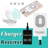 Universal Qi Wireless Charger Receiver Adaptador Receptor Receiver Coil Android Phone Micro USB Carregador Para iPhone 7 Plus 6 6s Samsung Series