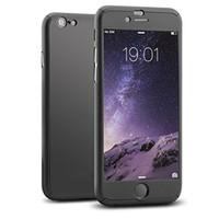 telefon ekranları toptan satış-Ultra-ince 360 derece tam kapak telefon kılıfı için iphone 11 pro xs max xr 8 7 samsung note10 s10 s9 artı temperli cam ekran koruyucusu ile