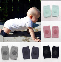 Wholesale baby crawl pads online - Baby Knee Pads Kids Anti Slip Crawl Knee Protector Baby Leg Warmers Safety Protector Kids Kneecaps Kneepad Crawling Elbow Cushion KKA2148