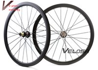 Wholesale road wheelset disc - New arrival,full carbon road disc brake wheelset, 38mm clincher tubular ,700C road bike disc brake wheelset