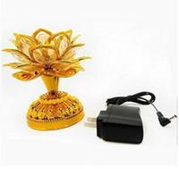 lampe batterie e27 achat en gros de-Lampe de lotus led Bouddha Machine fournitures de bouddhiste de la batterie plug-in à double usage LED fleur de fleur romantique mariage Decorat