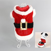 Wholesale Christmas Hoodie For Dog - Free Shipping 2016 New Puppy Dog Santa Costume Christmas Pet Clothes Hoodie Coat Easter Bunny Clothing for Dog Chihuahua Yorkshire Poodle
