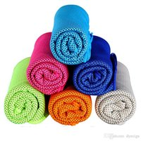 Wholesale Green Hair Towel - Cold Towel 100x30cm cooling Towel Exercise Sweat Summer Sports Ice Cool Towel PVA Hypothermia Cooling Towel mix Single layer