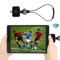varas de androids de tv venda por atacado-Mini ATSC Digital Ao Vivo Tuner Wirelss Receptor de Satélite Dongle Adpater Android Telefone Pad PC EUA Coreia Do Canadá Canadá 707