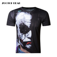 Wholesale Tees Half Sleeves - Wholesale-ZOOTOP BEAR New half face Joker 3d t shirt funny character joker Brand clothing design 3d t-shirt summer style tees top print