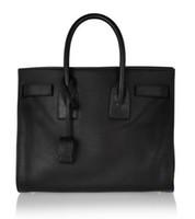 Wholesale Classic Design Handbag - Luxury Classic Design Small Leather Tote Padlock Women's Fashion Handbag Black