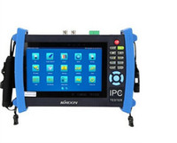 lcd cctv monitörü toptan satış-IPC-8600 7'LCD Dokunmatik Keystoke ekran IP güvenlik kamera CCTV tester monitör ile HD CVI, TVI AHD, IPC, SDI, CVBS 6 in 1 kamera testi fuction
