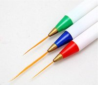 Wholesale Sable Brush Sets - 3PCS Set Drawing Nail Art Pen Kit Liner Design Painting Acrylic Pen Brush Tools Set Nail Art Sable Striping Pens Brushes