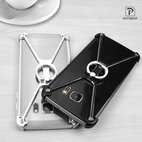 Wholesale Bumper For Mobile Wholesale - X Shape Ultra-Thin Aluminum Metal Shockproof Bumper Mobile Phone Case For iPhone 6 6S 7 8 Pus Samsung S7 edge S8 Plus