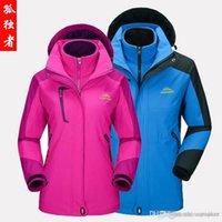 Wholesale Waterproof Wind Proof Winter Jacket - KAISHIKA 2016 New Arrival Triple Women In Size M-3XL Camping Hiking Jackets Camping Hiking Wear For MTB Dust Proof Anti UV 100% Polyester