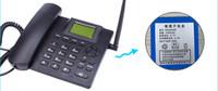 Wholesale Desktop Telephones - Black Fixed Wireless GSM Desk Phone Quadband SIM Card SMS Function Desktop Telephone Handset Russian French Spanish Portuguese