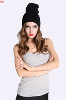 Wholesale Ladies Veiled Hat - Ladies Hat Supermodel Veil Street Snap Net Yarn Knitted Cap Wool Hat Autumn Winter Hats For Womens Beanies Black Party Hats Sale SV007975