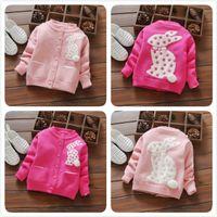 Wholesale Infant Cardigan Sweaters - 2017 New Fashion Winter Newborn Baby Cotton Rabbit Design Cardigan Infant Toddler Warm Cute Thicken Sweater Children Kid Clothing Outwear