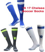 Wholesale Sport Chelsea - Benwon - 16 17 Chelsea home blue soccer socks sport socks men's Knee High cotton soccer stocking thai quality Thicken Towel Bottom long hose