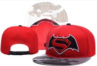 Wholesale New Batman Caps - 2016 New Caps Hot Hat Pop Moive Fashion Cap Batman vs. Superman Mix Match Order All Caps in stock Top Quality Hat