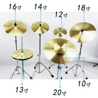Wholesale 14 Cymbal - 1pcs 8 10 12 14 16 18 20 Inch Drums Parts Drum Kit Brass Cymbal For Percussion Drum Brass Parts & Accessories