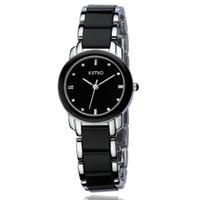 Wholesale Ladies Watch Eyki - Eyki Kimio Ladies Imitation Ceramic Wristwatch Luxury Gold Bracelet Watches Women Dress Watch saat kol saati