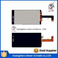 Wholesale Display Huawei - Original Brand New Screen For Huawei P7 P7-L10 LCD Display+Touch Glass Digitizer Assembly Replacement Screen Black Free Shipping