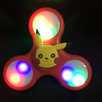 Wholesale Funny LED Light Hand Finger Spinner Fidget Plastic EDC Toy Cartoon For Autism and ADHD Relief Focus Anxiety Stress Gift Toys