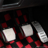 Wholesale Car Footrest - Car Accessory Aluminum Footrest M Pedal Pad Set Mugen Universal Non Slip Manual Transmission Car Vehicle Pedals Pad Accelerator for AT MT