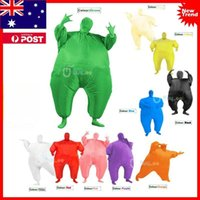 Wholesale Fat Suit Costume - Inflatable Chub Fat Suit Fancy Dress Costume - Blow Up Halloween Party Stag Hen Suit