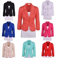 Wholesale Wholesale Women Office Suits - Women's Suits Blazers Ladies Business Coats Formal Vestidos Office OL Jackets Winter Fashion Cardigan Slim Tops Casual Blouse Clothing B2737