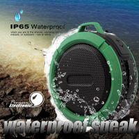 bluetooth su geçirmez hoparlörler ipx7 toptan satış-C6 IPX7 Açık Spor Duş Taşınabilir Su Geçirmez Kablosuz Bluetooth Hoparlör Vantuz Handsfree Ses Kutusu iphone 6 iPad PC Telefon