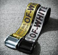 Wholesale Silver Needles - OFF WHITE Belts Men Extend Long 200CM Long Fashion Yellow Belt Women Hip hop Streetwear Skateboards Virgil Abloh Industrial Man