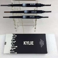Wholesale Brow Kit Wholesalers - KYLIE Brow definer Hills Brow Pencil Double ended with eyebrow brush 0.085g 3 Color A Sourcils Fin Skinny in stock kylie kit from Air11