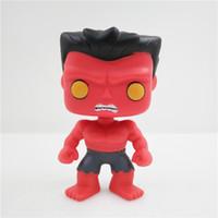 Wholesale Bobble Heads Funko - CICITOYFIRM FUNKO POP 31# The Avengers Red Hulks Vinyl Cute Bobble Head Toys PVC 10CM Action Figure