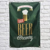 Wholesale Scroll Wall Hangings - Retro Wine Beer Poster Scrolls Bar Cafes Indoor Home Decor Banners Hanging Art Waterproof Cloth Wall Painting Wall Sticker