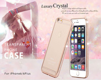 Wholesale Cheap Case Iphone Diamond - New Cheap Luxury Rhinestone Frame Case For iphone 6 6s 6 plus Ultra Thin Clean Soft TPU Crystal Diamond Fashion cover For iphone 6 6S Plus