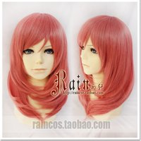 [annecosplay] Cosplay Love Live! Nishikino Maki Wig 45cm Medium Watermelon Red Mixed Coccineous Girl Lolita Wigs