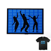 Wholesale Sound Music Activated - Wholesale-EL T-Shirt Sound Activated Flashing T Shirt Light Up Down Music Party Equalizer LED T-Shirt Interchangeable Short Black Tshirt