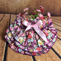 Everweekend Girls Bow Flower Ruffles PP Pantalons Candy Color Princess Party Vêtements Sweet Baby Summer Clothing