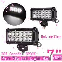 Wholesale Spot Flood Combo 4wd Led - 7 inch 36W CREE LED light bars Spot Flood Combo Light Car LED Working Light for Offroad Truck SUV Tractor 4WD Boat
