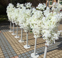 Wholesale Mall Stand - New Arrival Cherry Blossoms Tree Road Leads Wedding Runner Aisle Column Shopping Malls Opened Door Decoration Stands MYY