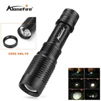 Wholesale 3x Cree Flashlight - Alonefire H230 CREE XM-L T6 LED Flashlight led torch zoomable waterproof tactical flashlight for 1x 18650 or 3x AAA Battery