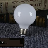 Wholesale Glass Bubble Bead - Spherical energy saving and consumption of milk white light bulb 360 light led glass G80 G95 G125 bright dragon beads bubble