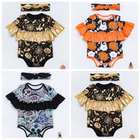 7aef8c4cbae6 2017 boutique halloween costumes baby rompers baby girl jumpsuit gold  pumpkin onesie romper newborn clothes ruffle sleeve toddler clothing