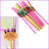 Wholesale drinks umbrellas resale online - Novelty Mini umbrella Drinking Straws for Wedding Birthday Party Paper Parasols Umbrella Tea Cocktail Drinking Straws