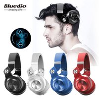 Wholesale Ear Headphones Folding - Original Fashional Bluedio T2 Bluetooth Headphones Wireless Headset Folding Headphones Built-in Mic Universal For Most Cell Phones